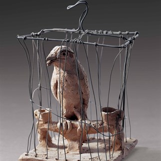 """A Bird in the Cage"" 1983 Pottery"
