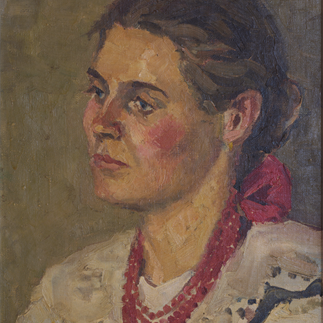 """Polish Girl"", Poland, Oil on Wove Paper,37.5cm×29.5cm,Collection of Hu Yichuan Research Institute of Guangzhou Academy of Fine Arts, 1957"