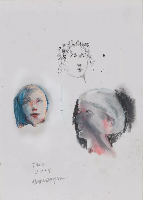 Martial Raysse, Trio, 2019; Painting, pastel on paper, 20.5x14.5cm.jpg