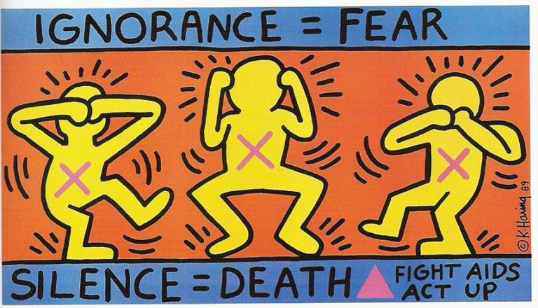 5. Keith Haring – Ignorance = Fear, 1989. Courtesy of the Keith Haring Foundation.jpg