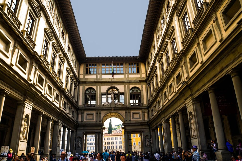 The Uffizi Museum in Florence. Photo by Michelle Maria, via Wikimedia Commons..jpg