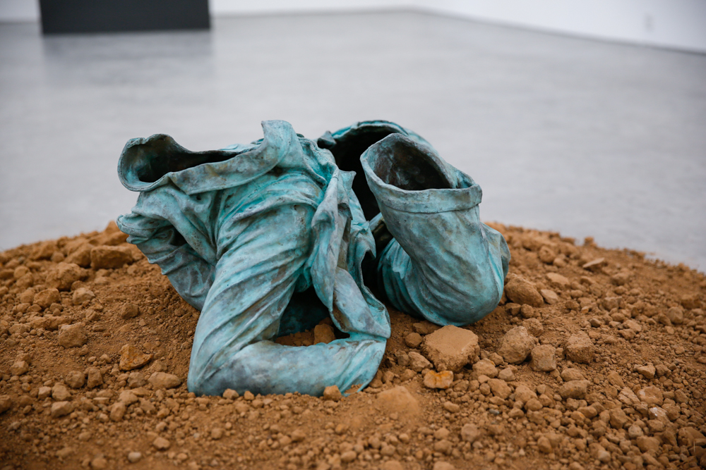 Shell of Mao Suit No. 1, 1994, Bronze, soil, 80x72x39cm, Exhibition View  ©️CAFA ART INFO Photo by Hu Sichen 6.jpg