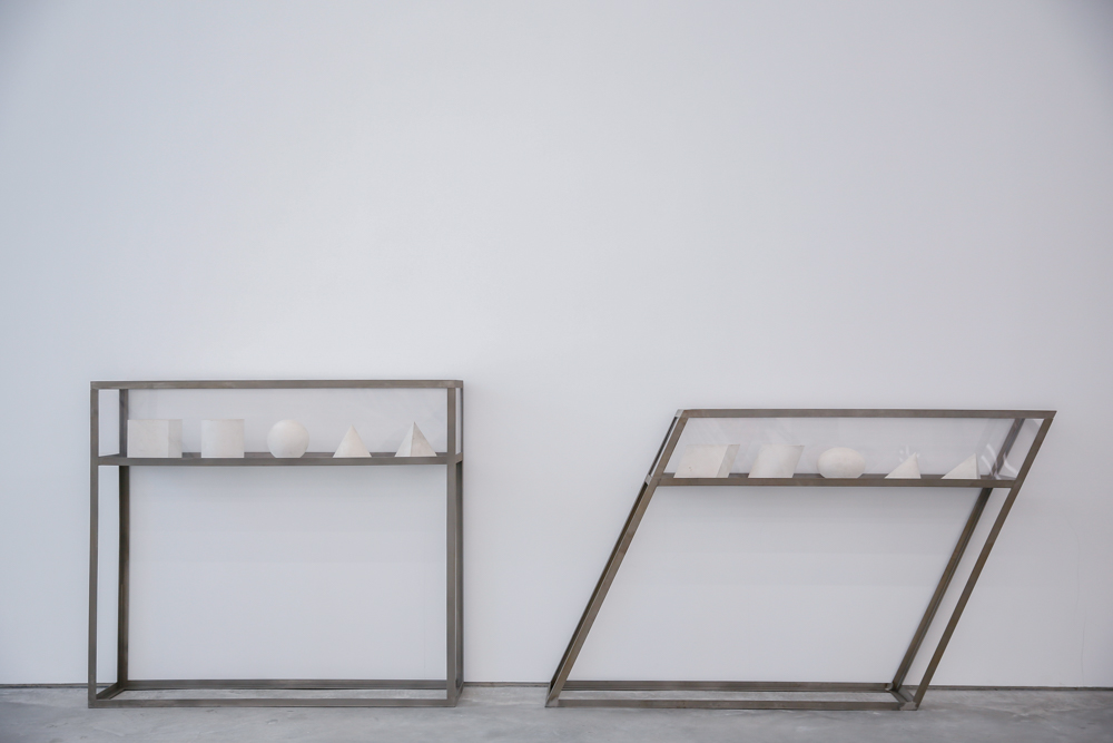 Dual System, 2009, White marble, stainless frame, PMMA, Dimension variable, Exhibition View  ©️CAFA ART INFO Photo by Hu Sichen 9.jpg