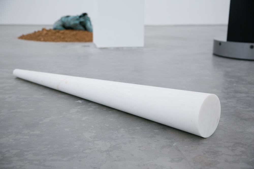 An Eternal Light Beam, 2013-2019, White marble, 76x20x6cmExhibition View  ©️CAFA ART INFO Photo by Hu Sichen 20.jpg