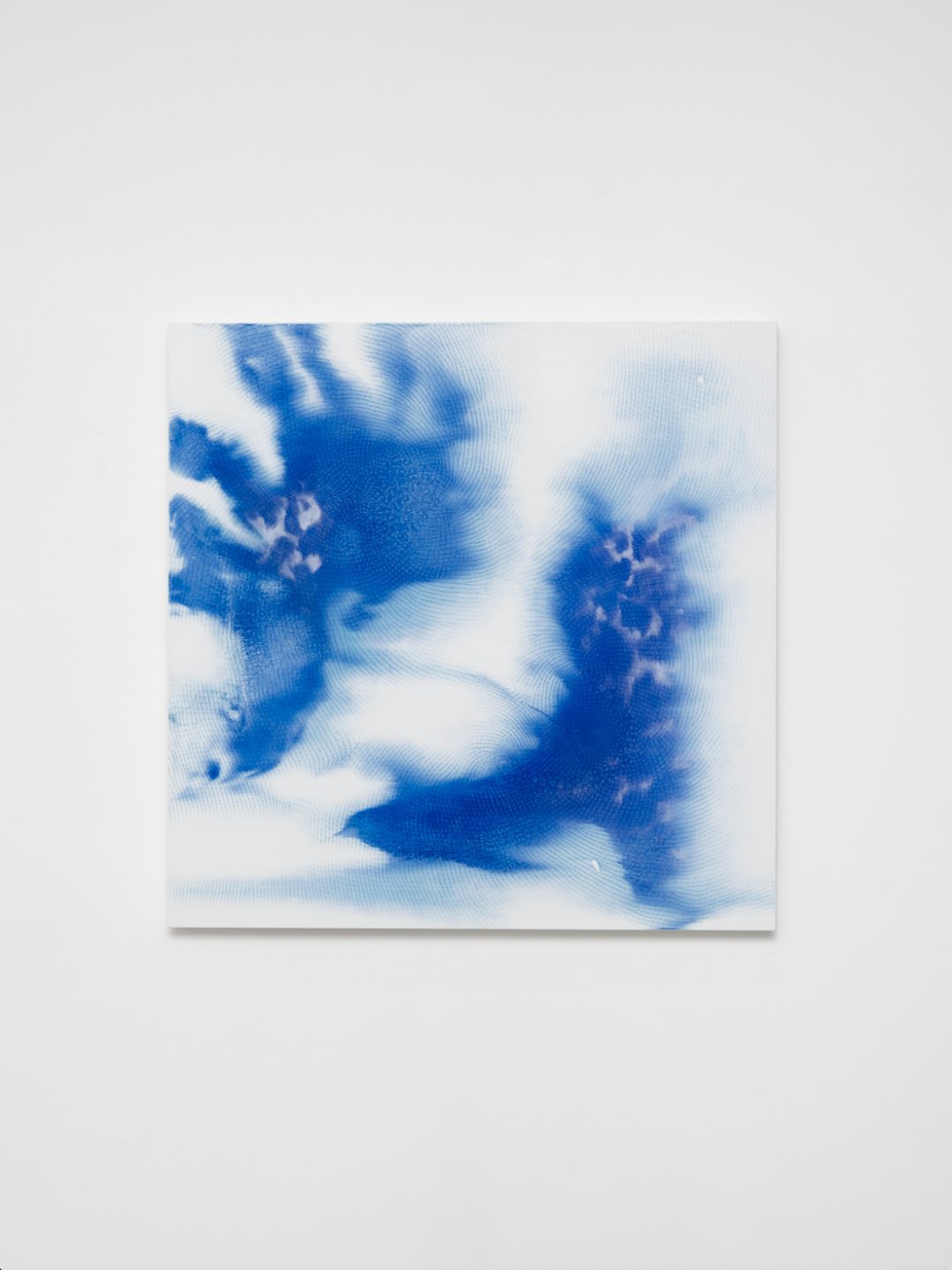 Shirazeh Houshiary Mind and Matter, 2020 Pigment and pencil on white Aquacryl on canvas and aluminium 120 x 120 x 5.5 cm 47 1:8 x 47 1:8 x 2 1:8 in © Shirazeh Houshiary Courtesy Lisson Gallery.png
