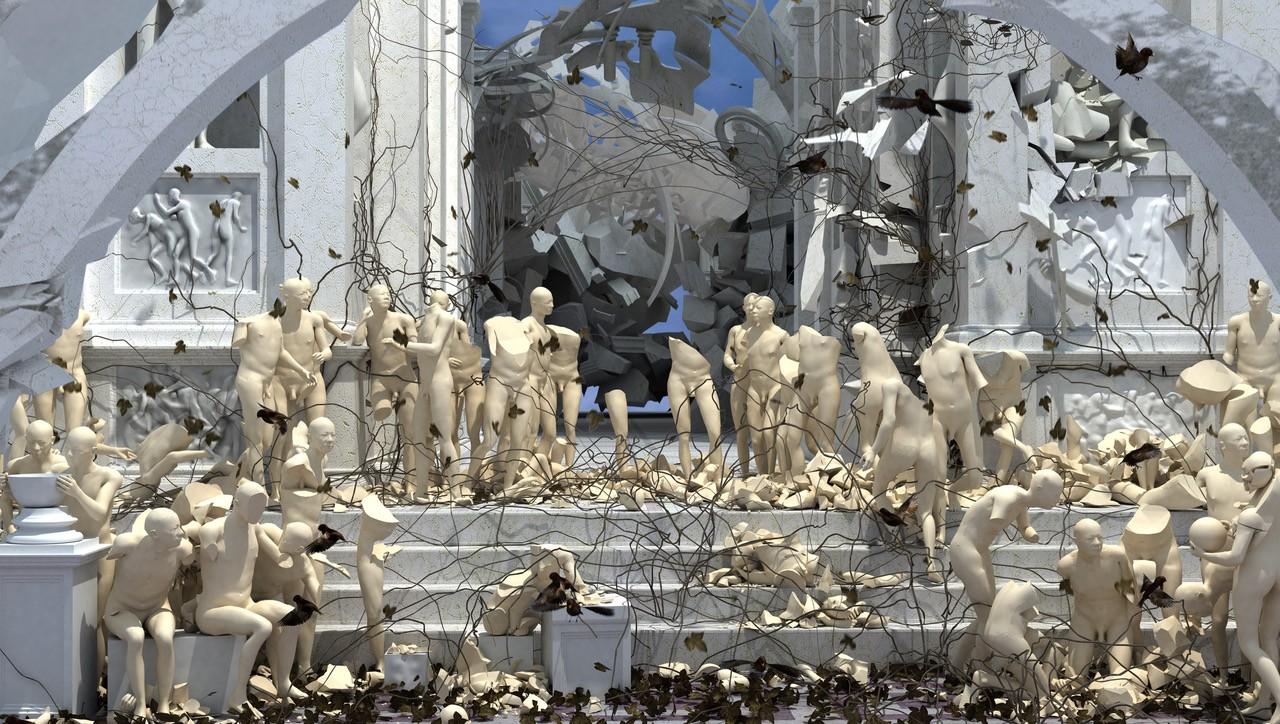 19 缪晓春《从头再来》截屏 多媒体影像 艺术家供图