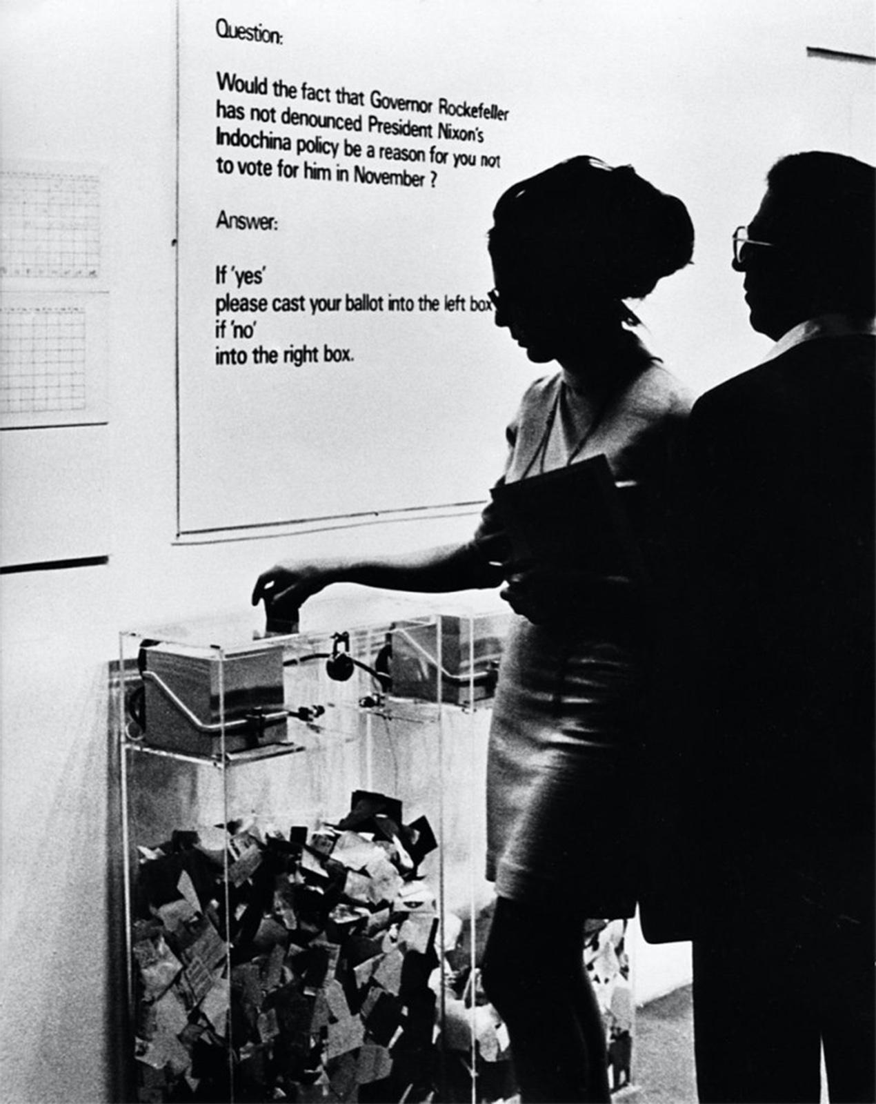 10汉斯·哈克,《MoMA的民意调查》