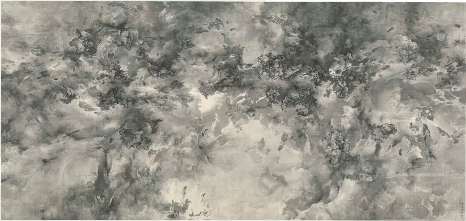 泰祥洲《天象No. 1》, 水墨絹本,2014