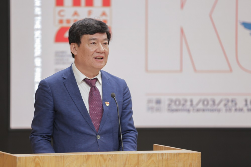 03 Gao Hong, Party Secretary of CAFA announced the official opening of the exhibition..jpg
