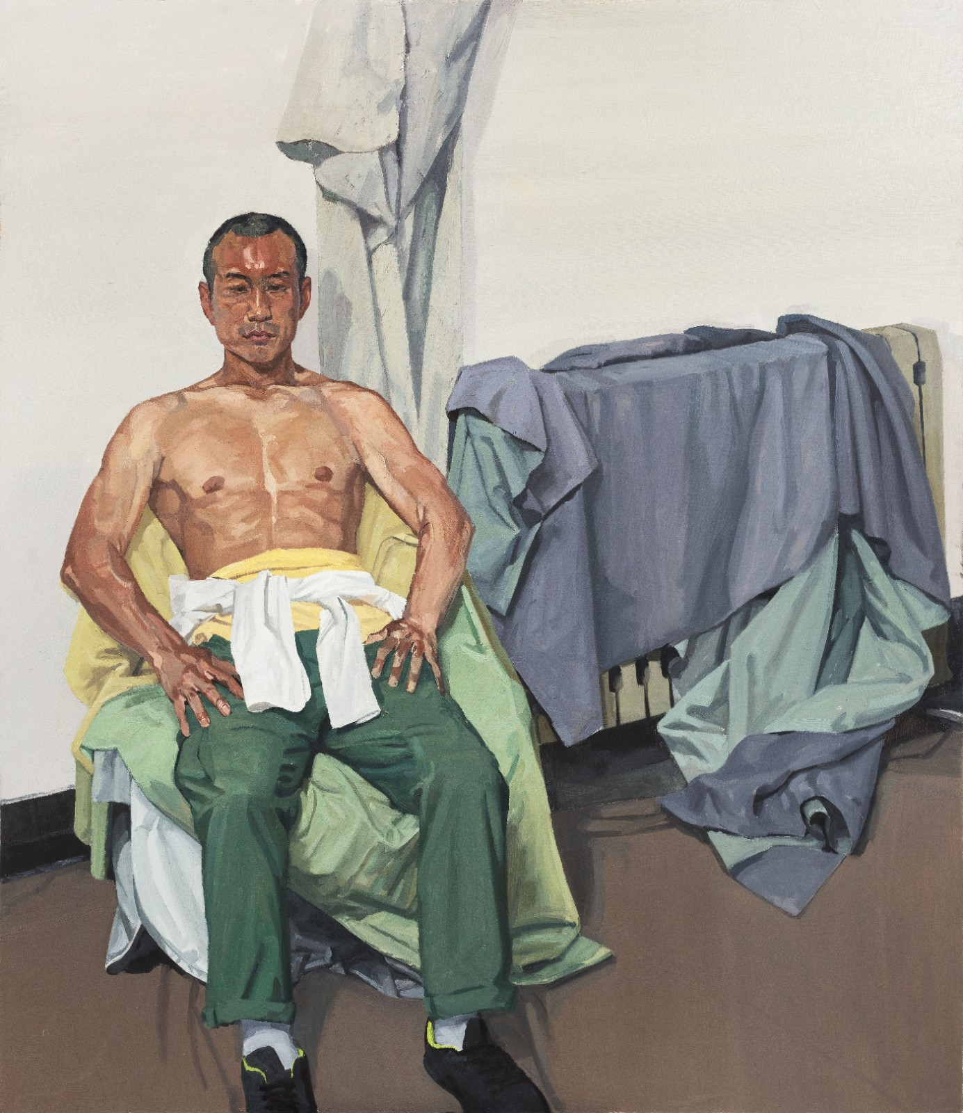 "36 Wang Jiaxing, ""Full-length Portrait of Young Man"", 130×150cm, Oil on canvas, 2016, Instructor Li Ronglin.jpg"